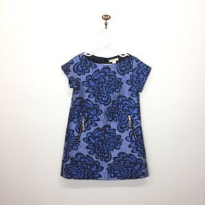 Crewcuts blue floral Jacquard formal dress 5 years